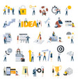 flat design people concept icons isolated on white vector image