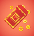 flat style chinese new year red envelope with vector image vector image