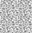 Geometry retro seamless pattern in black and white vector image vector image