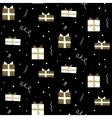 Glitter scandinavian gift black ornament vector image vector image