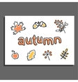 Greeting card with autumn vector image vector image