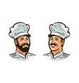 happy cook chef logo or label vector image vector image