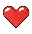 heart isolated icon vector image