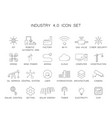 industry 40 icon set vector image vector image