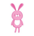 kids toys cute pink rabbit cartoon isolated icon vector image vector image