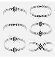 Laurel wreath tattoo set Black ornaments signs vector image