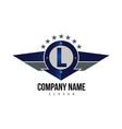 letter l shield logo vector image vector image