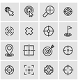 line target icon set vector image vector image