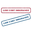 Low Cost Insurance Rubber Stamps vector image vector image