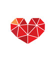low poly style heart love symbol vector image vector image