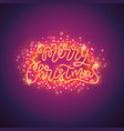 merry christmas colorful poster with magic vector image vector image