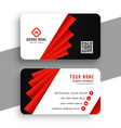 modern red geometric business card template design vector image vector image