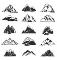 mountain symbols silhouette mountains with range vector image vector image