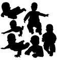 Newborn Silhouettes vector image vector image