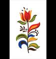 oriental motif flowers original floral vector image