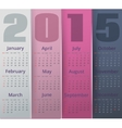 Paper colored 2015 year calendar vector image