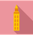 peru city tower icon flat style vector image vector image