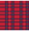 Rectangular tartan red fabric seamless texture vector image