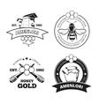Retro beekeeper honey emblems logos in vector image vector image