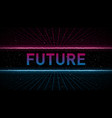 retrowave pink and blue laser perspective grid vector image vector image