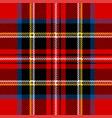 royal stewart modern tartan plaid pattern vector image vector image