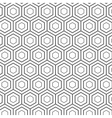 Seamless Geometric Lines Black and White Hexagon vector image vector image