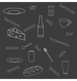 Seamless pattern of kitchen utensils vector image
