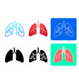 set lung icons and symbol in art design vector image vector image
