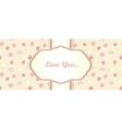 shabby chic card design provence style vector image vector image