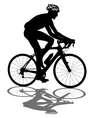 Silhouette of a cyclist male vector image vector image