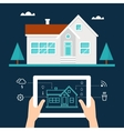 Smart Home Technology and Tab Application vector image vector image
