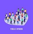 social concept of public opinion vector image vector image