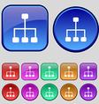 social network icon sign A set of twelve vintage vector image