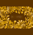 traditional brown and gold autumn foliage pattern vector image