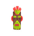 tribal mask of idol carved wooden statue cartoon vector image vector image
