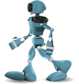 walking robot vector image