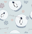 winter is coming penguin in ball seamless vector image