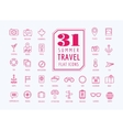 Travel icons set Sea travel and holiday vector image