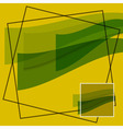 abstract - green waves on a yellow background vector image vector image
