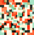 abstract orange squares seamless pattern vector image