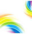 abstract rainbow gradient mesh multicolored vector image vector image