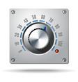 Analog Control Electronic Regulator Knob vector image vector image