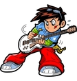 Anime Manga Guitar Player vector image vector image