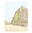 Antique European street Summer city landscape vector image vector image