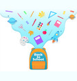 back to school banner backpack with study vector image vector image