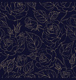 beautiful seamless pattern of roses vector image