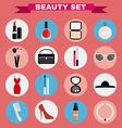 Beauty big icon set vector image vector image
