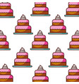 birthday cake bakery kitchen seamless pattern vector image