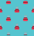 birthday cake seamless pattern background vector image vector image