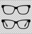 black framed glasses vector image vector image